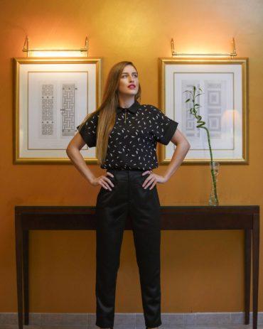 Mia Collared Top + Timbra Pants